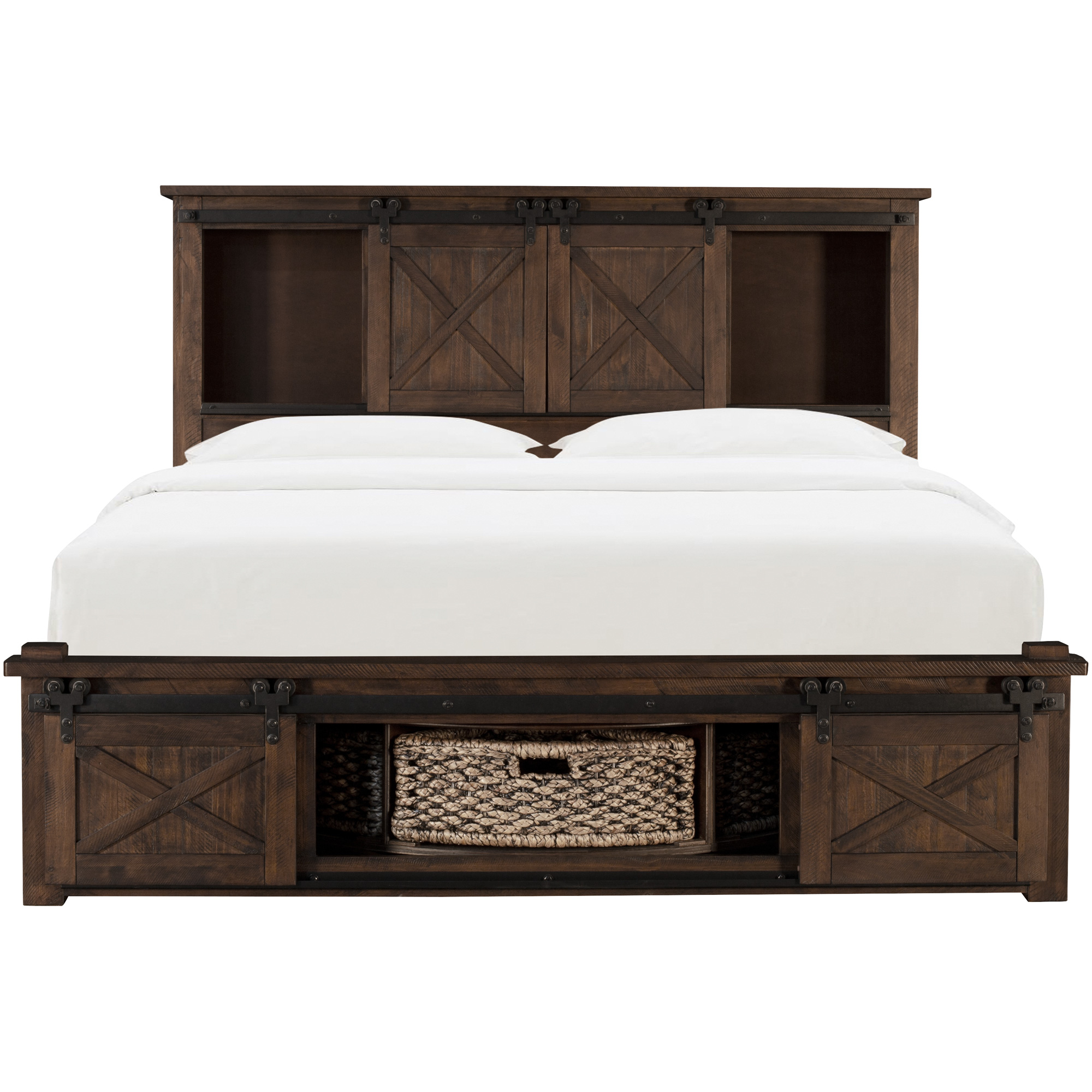 America | Sun Valley Rustic Timber California King Rotating Storage Bed
