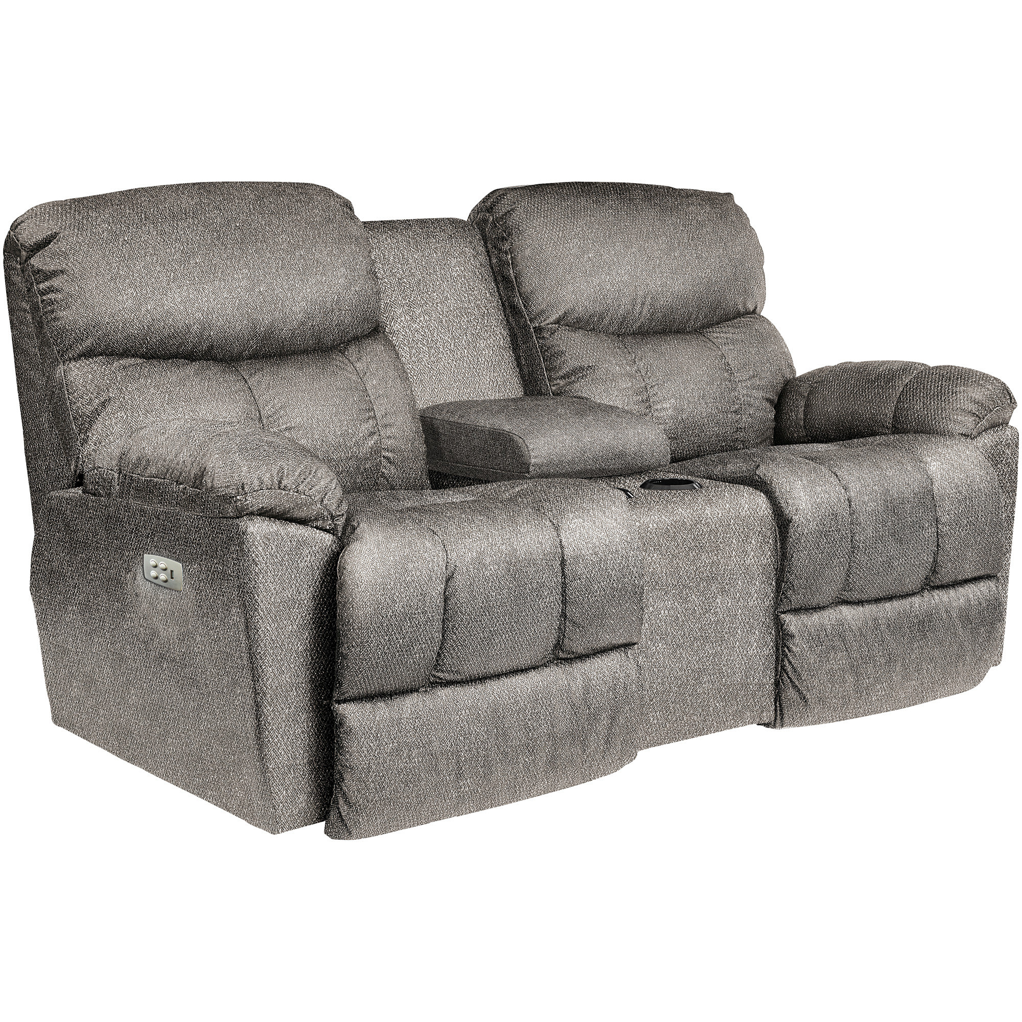 La-Z-Boy | Morrison Silver Power Plus Reclining Console Loveseat Sofa