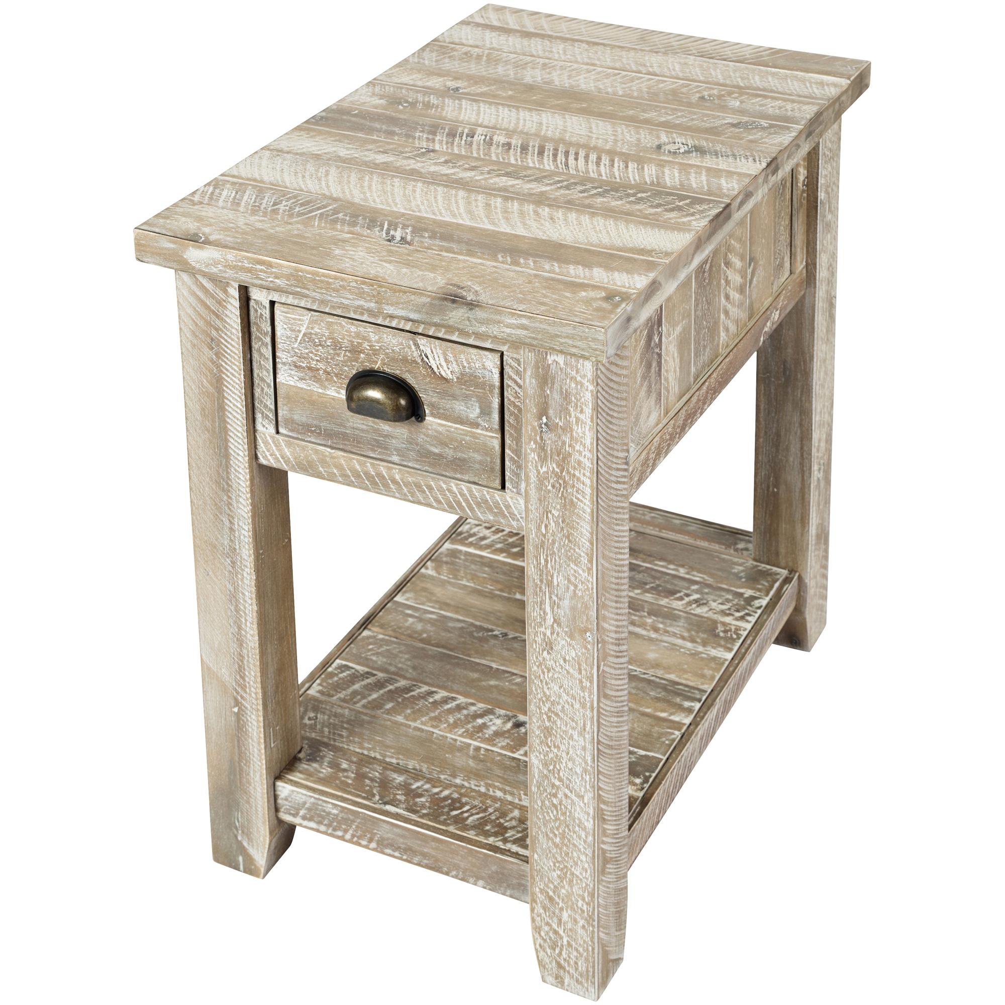 Jofran | Artisans Craft Gray Wash Chairside Table