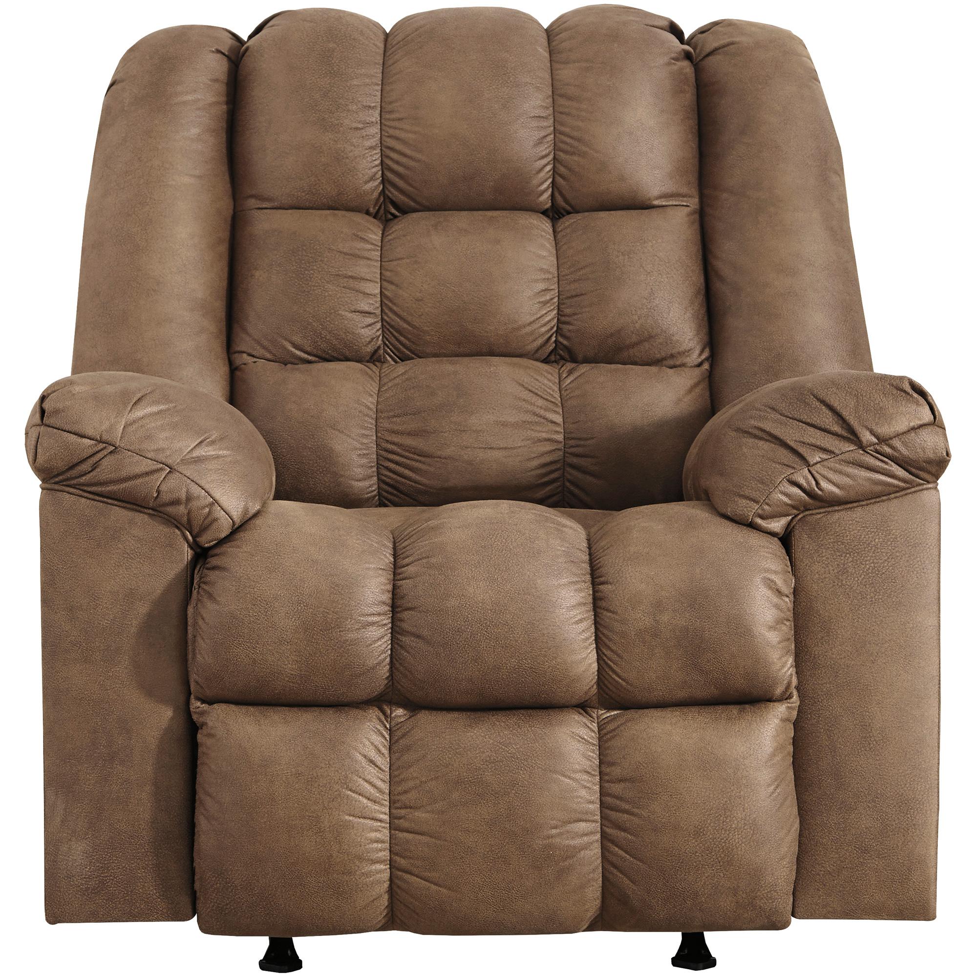 Ashley Furniture | Adrano Bark Rocker Recliner Chair | Brown