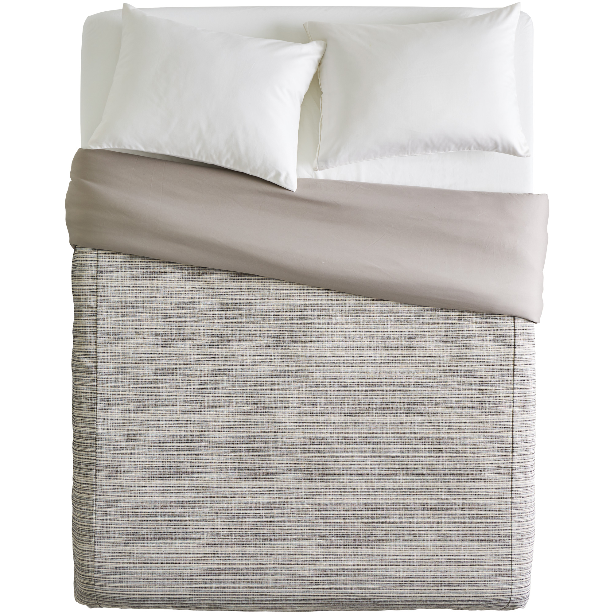 Sis Enterprises | Bungalow Stripe Slate Queen Duvet Cover