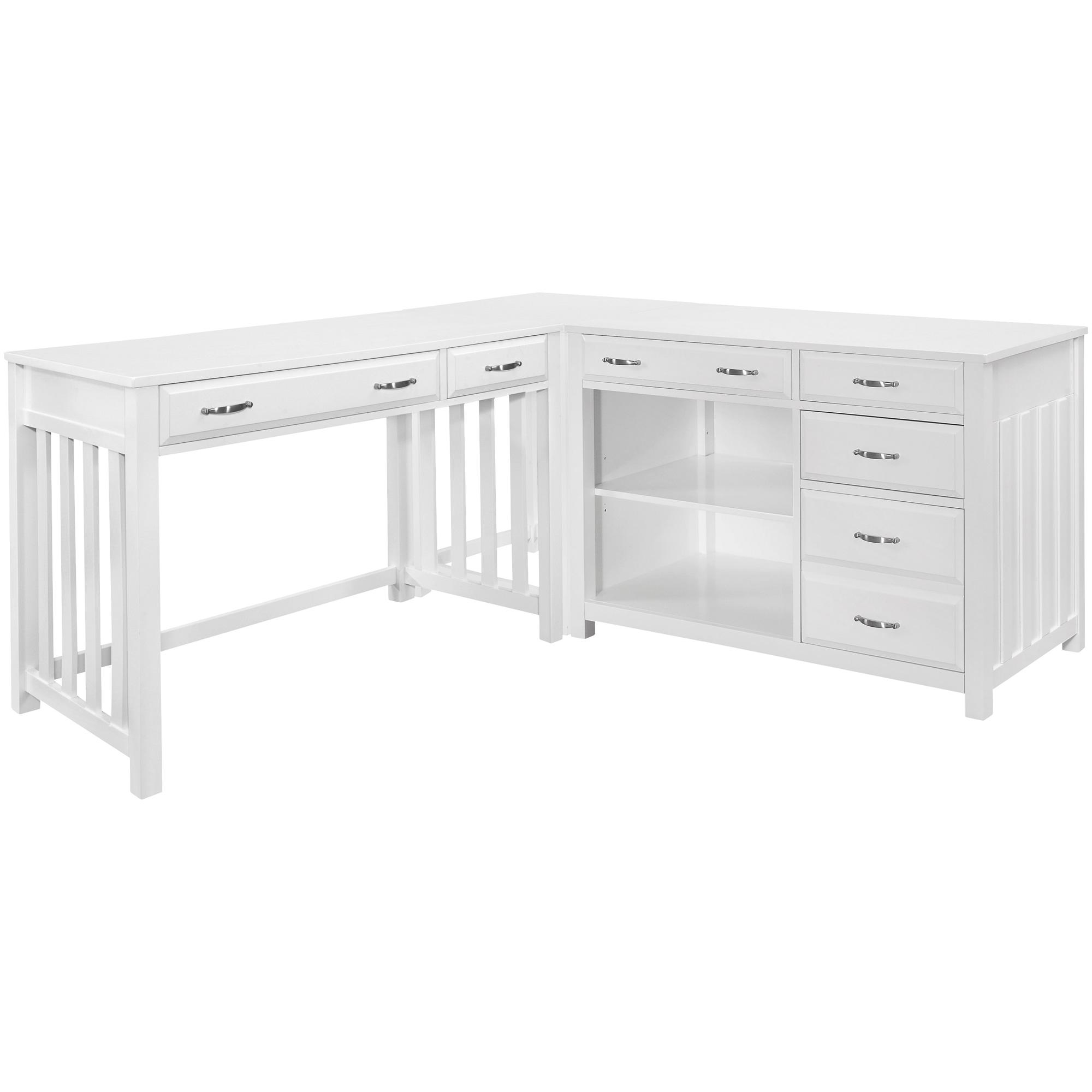 Top Line | Blanche White 4 Piece Desk