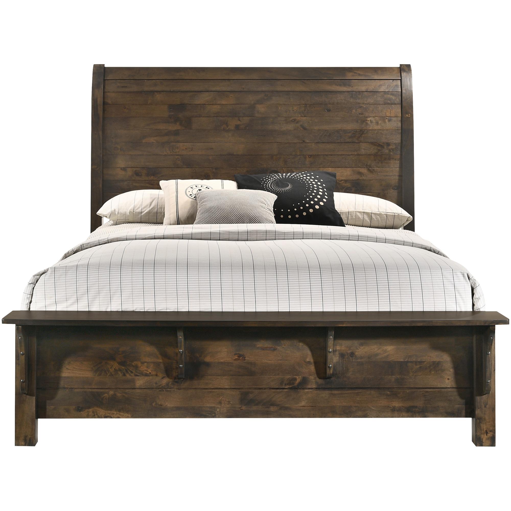 New Classic | Blue Ridge Rustic Gray Queen Bed