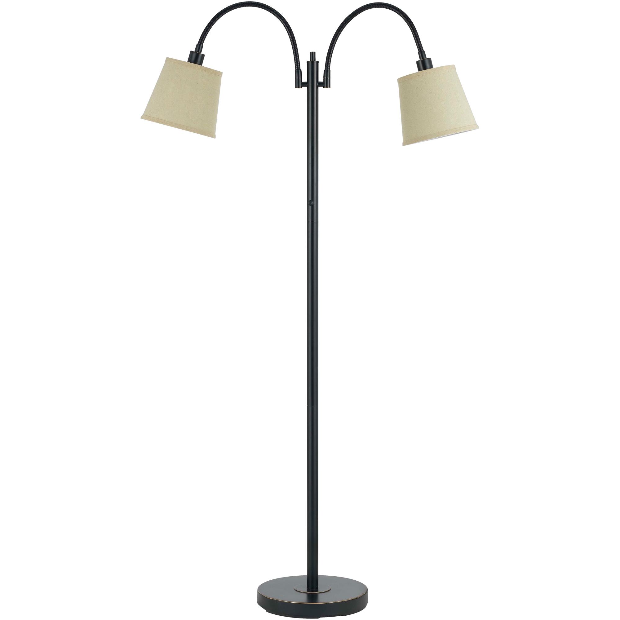 Cal Lighting | Gail Gooseneck Brown Floor Lamp