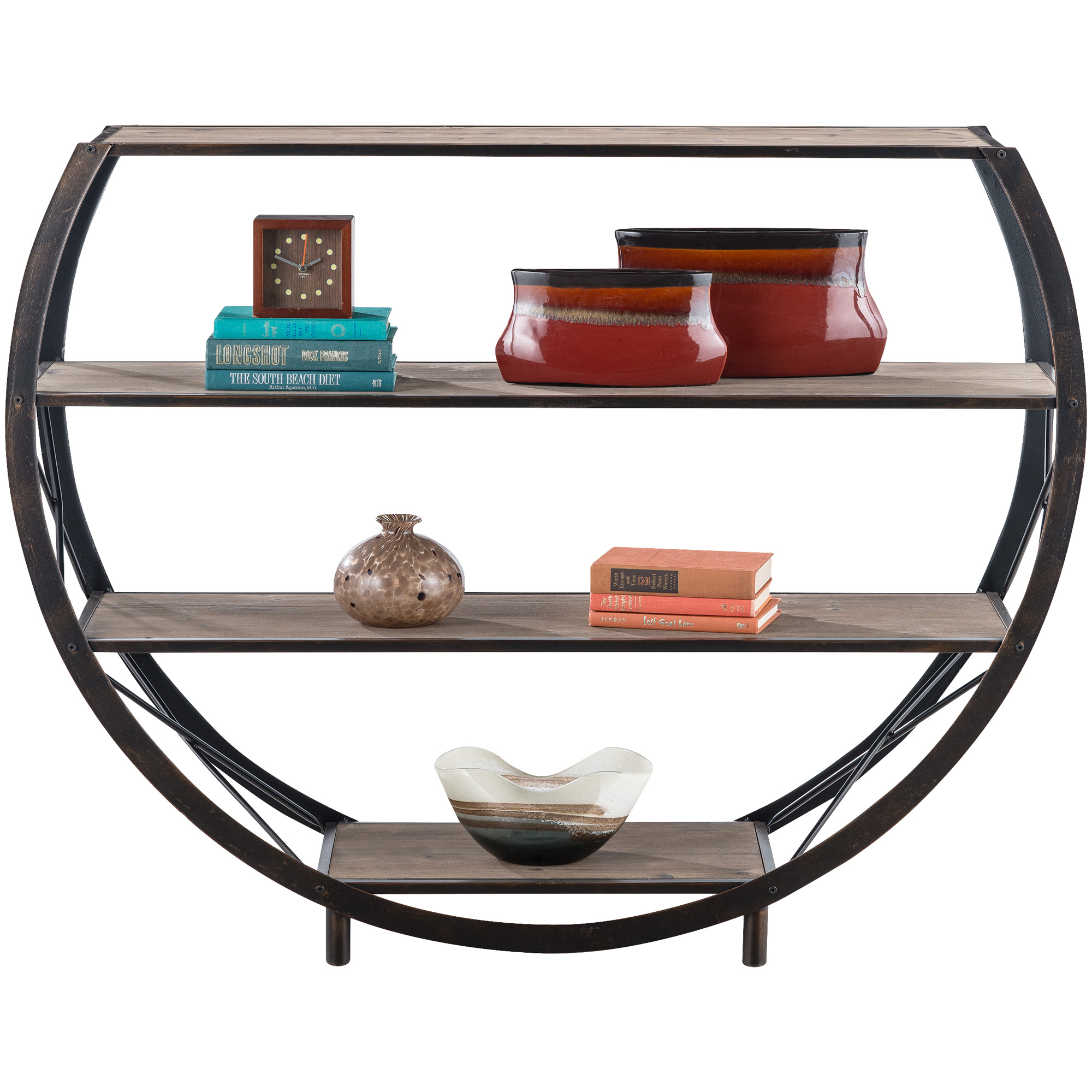 Stylecraft Home Collection | Gerrit Bronze Circular Accent Shelf
