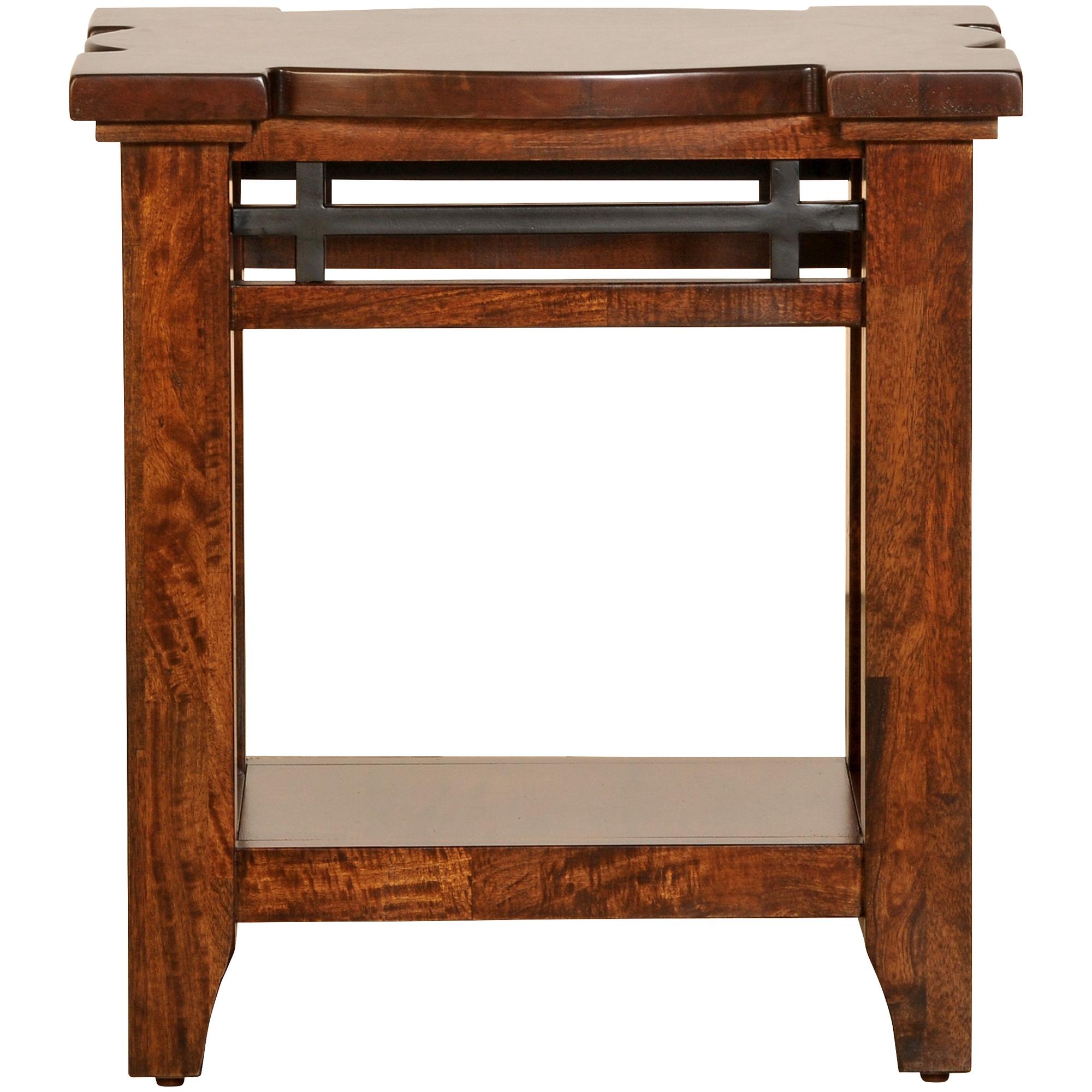 Napa Furniture   Whistler Retreat Dark Walnut Chairside Table   Mango