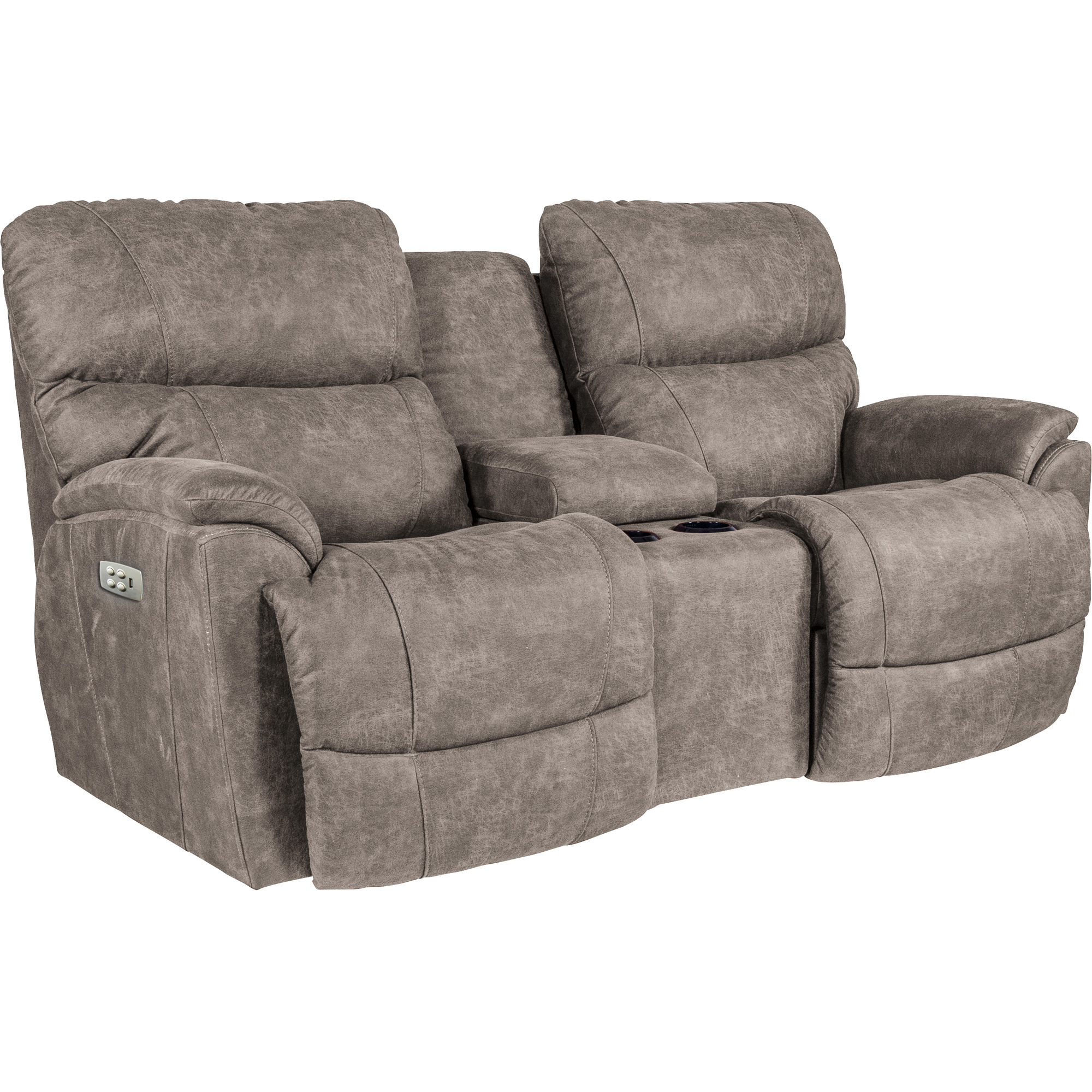 La-Z-Boy | Trouper Sable Power Plus Reclining Console Loveseat Sofa
