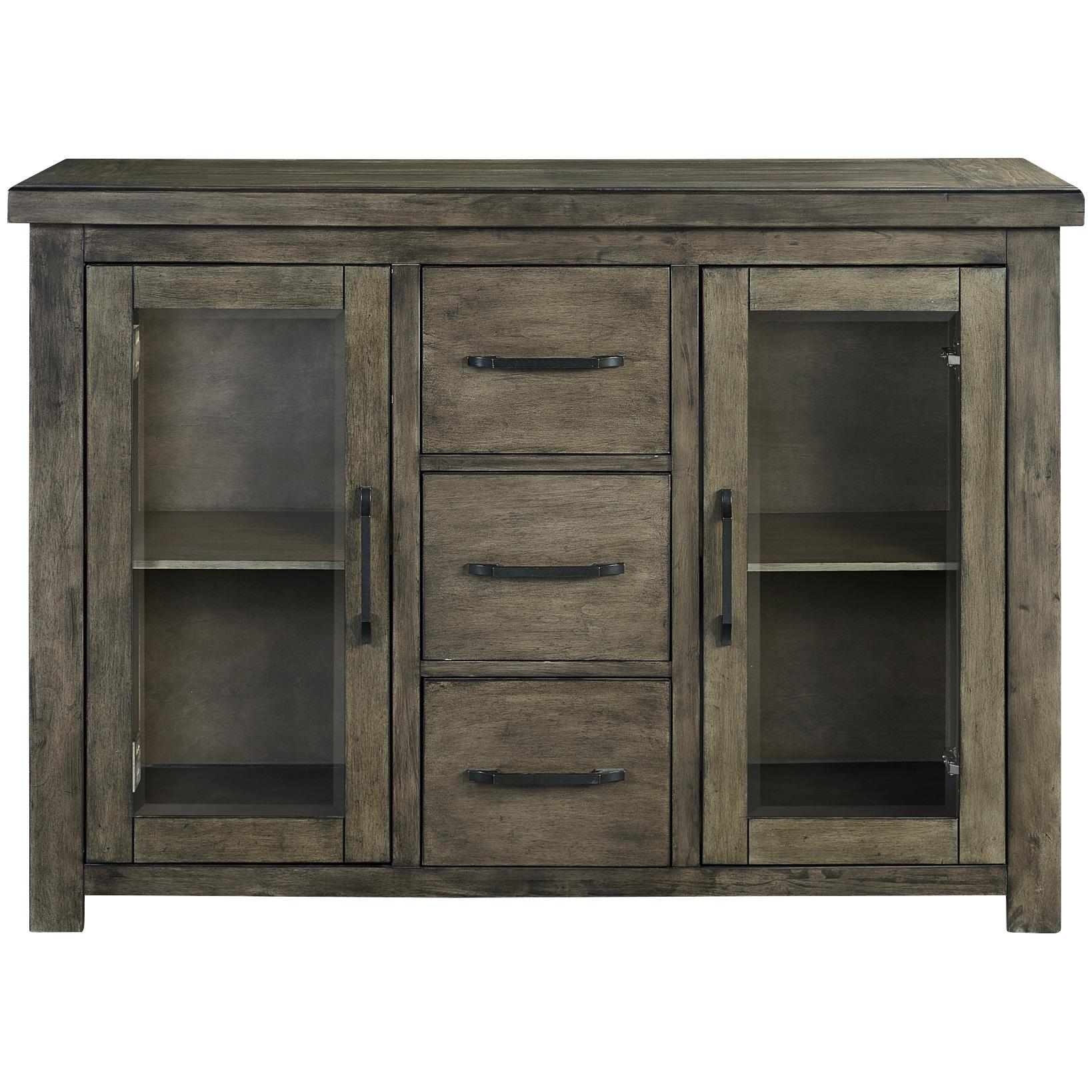 Whalen Furniture | Lawton Rustic Brown Server