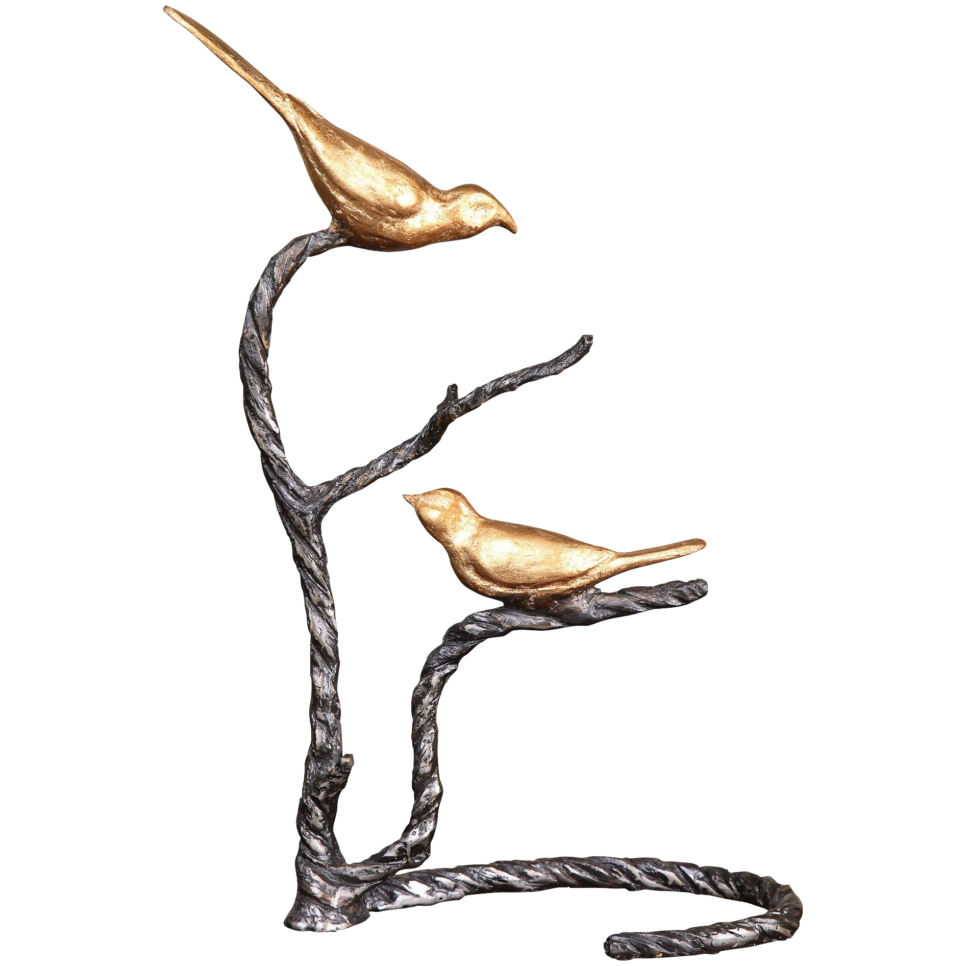Uttermost | Birds On A Limb Gold Sculpture