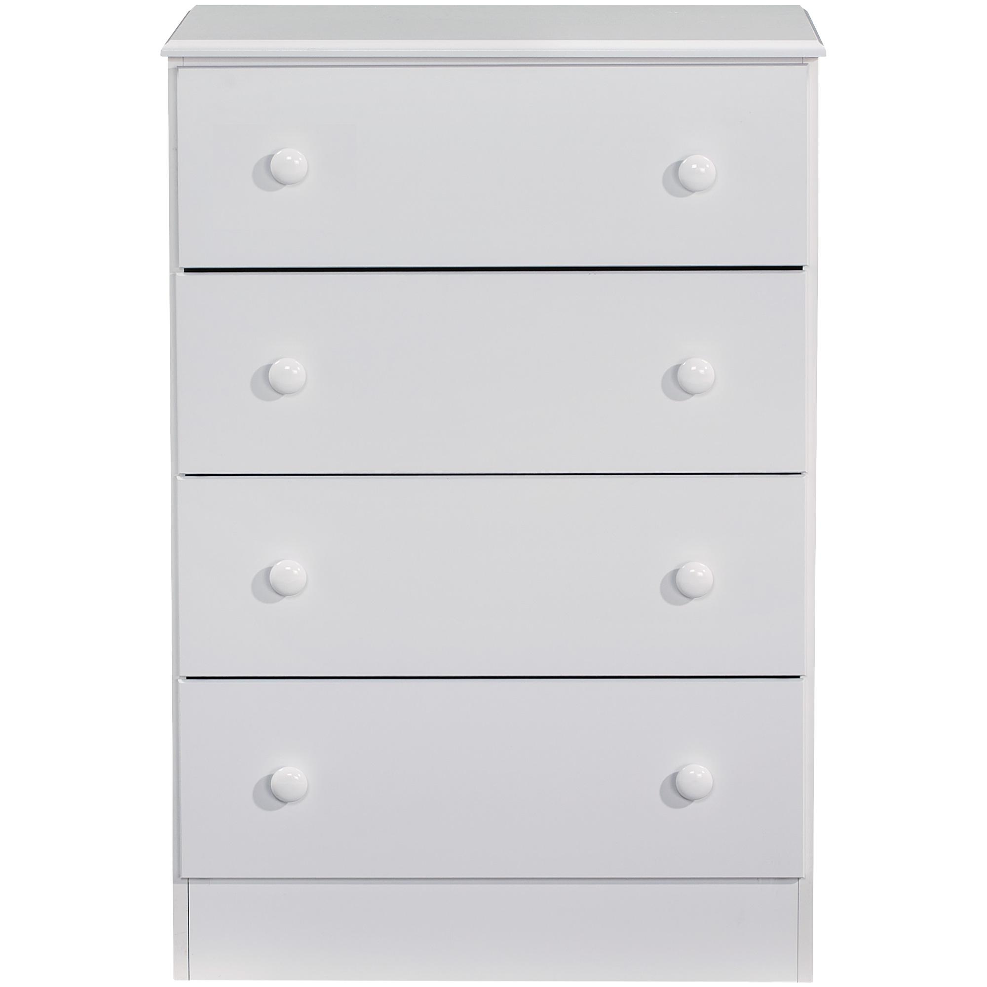 Kith Furniture | Allison White 4 Drawer Chest
