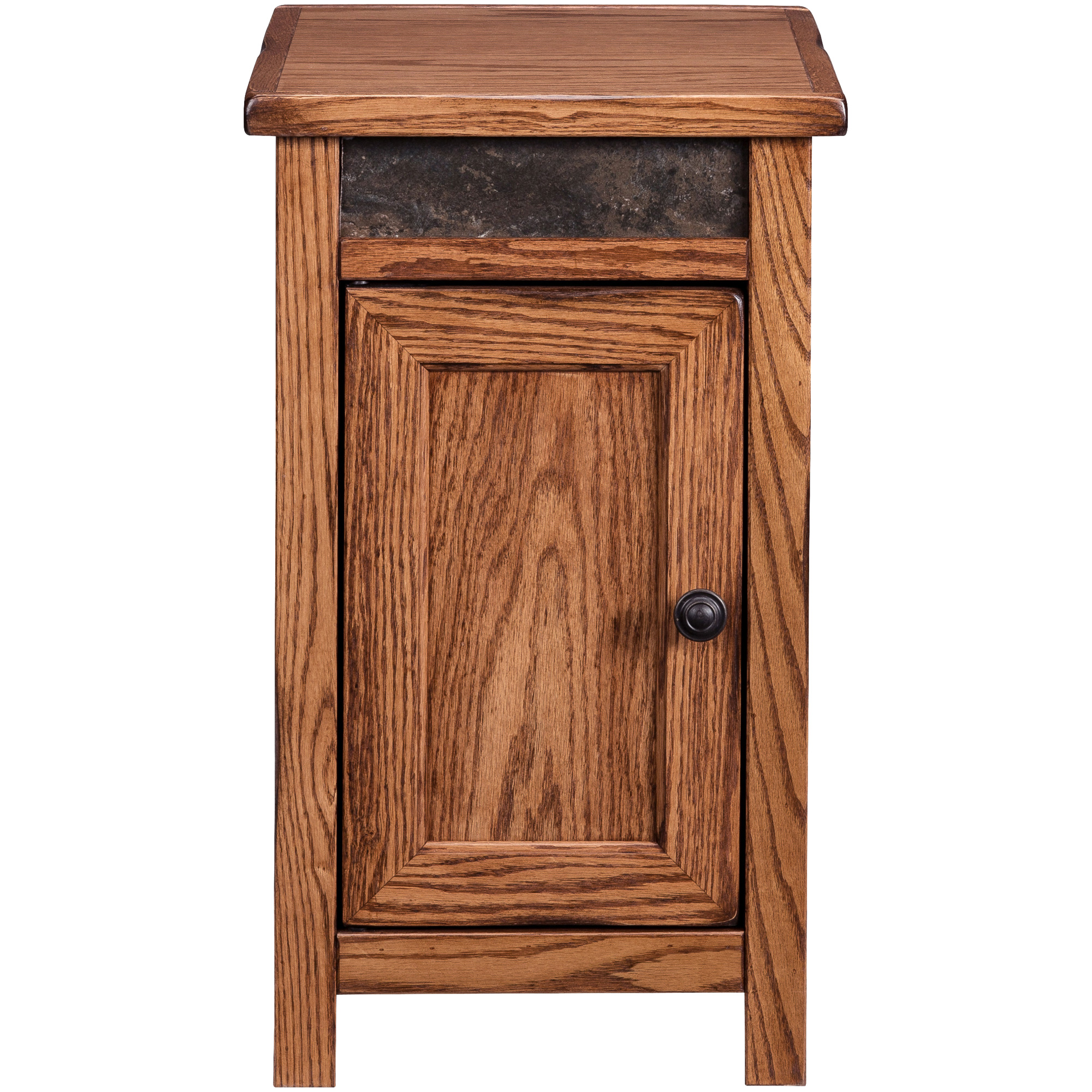 Legends Furniture | Evanston Antique Oak Rustic Storage Chairside Table