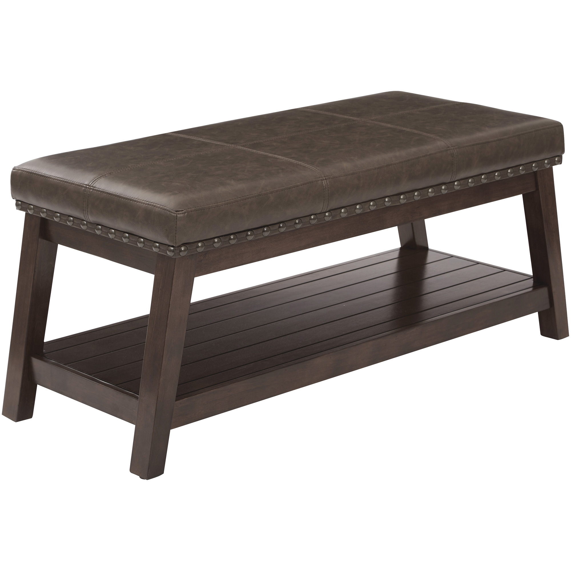 Office Star Products | Emery Espresso Entry Bench | Dark Brown