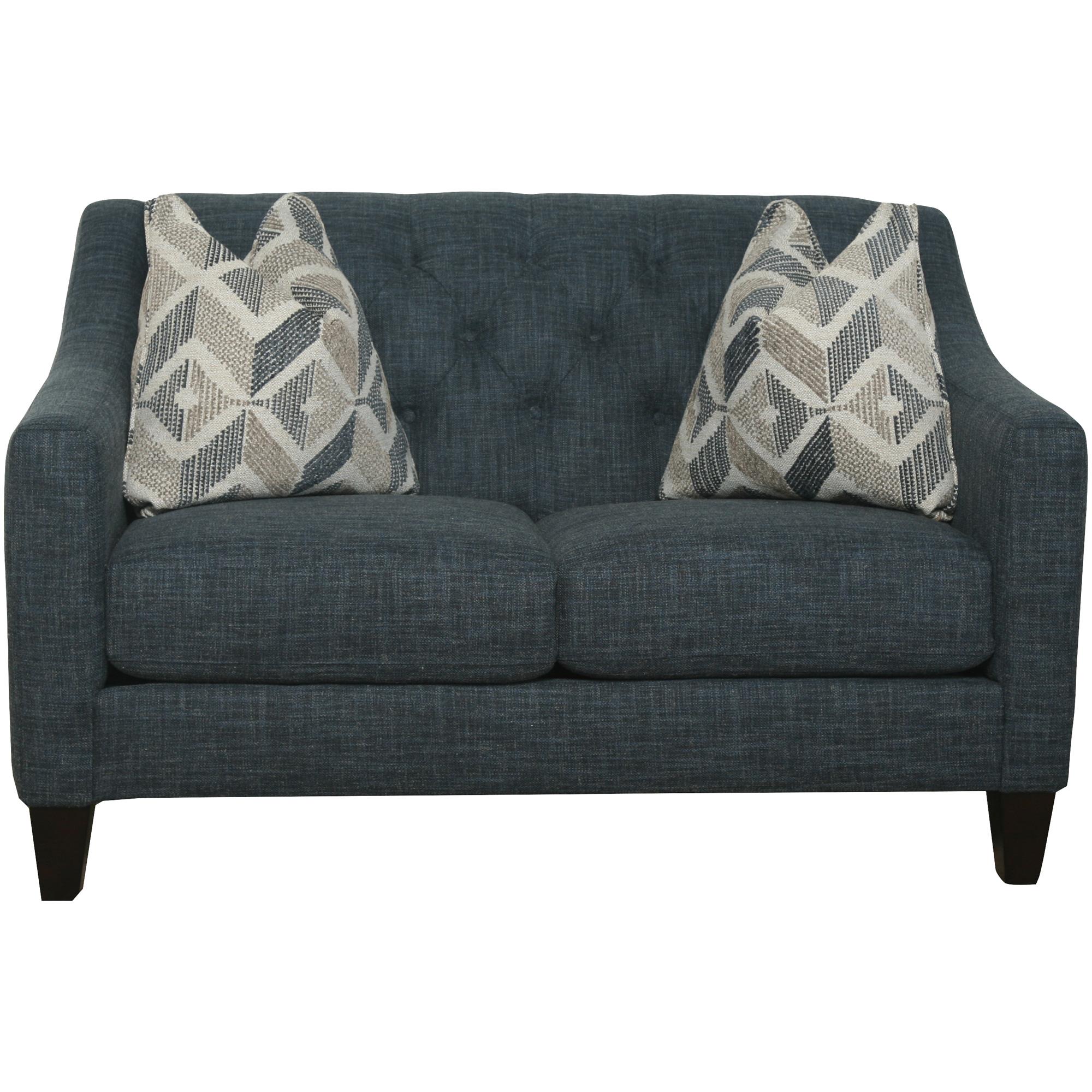 Bauhaus Furniture   Solo Blue Loveseat Sofa