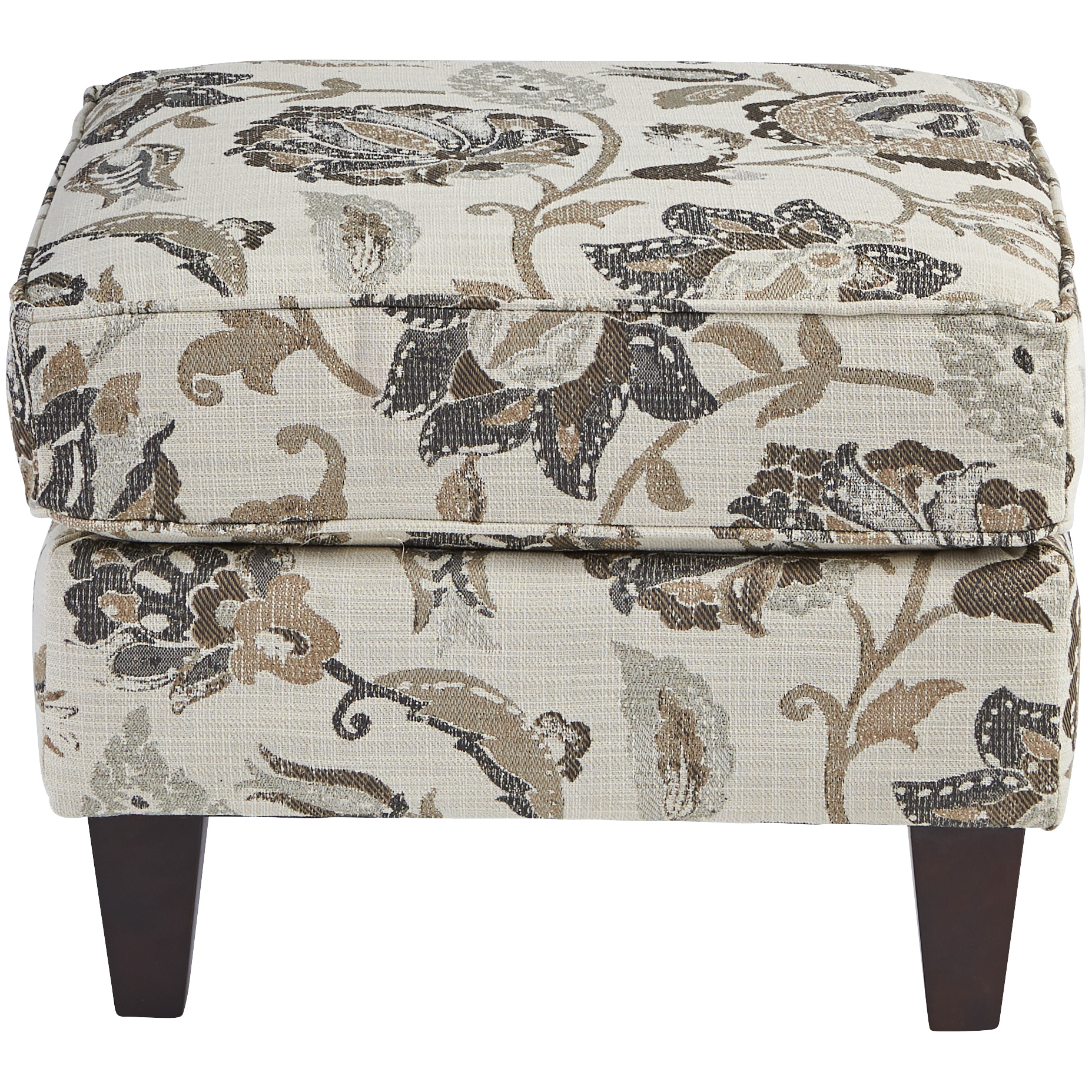Dimensions By England | Burke Bisque Accent Ottoman