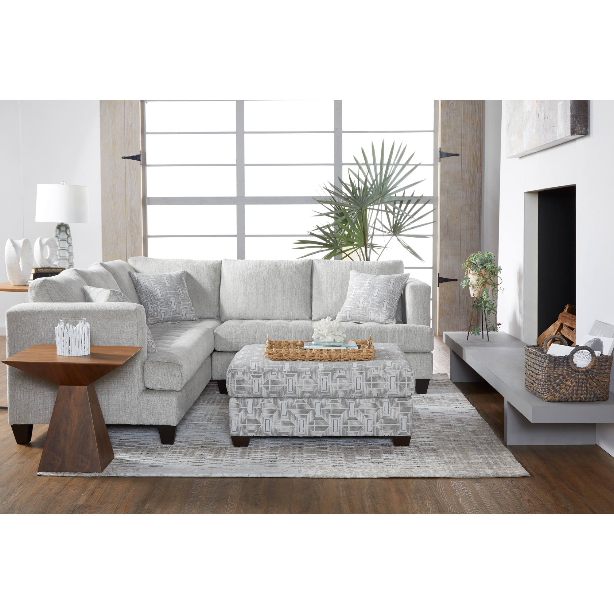 Serta Upholstery By Hughes Furniture | Asta Chiffon Sectional Sofa