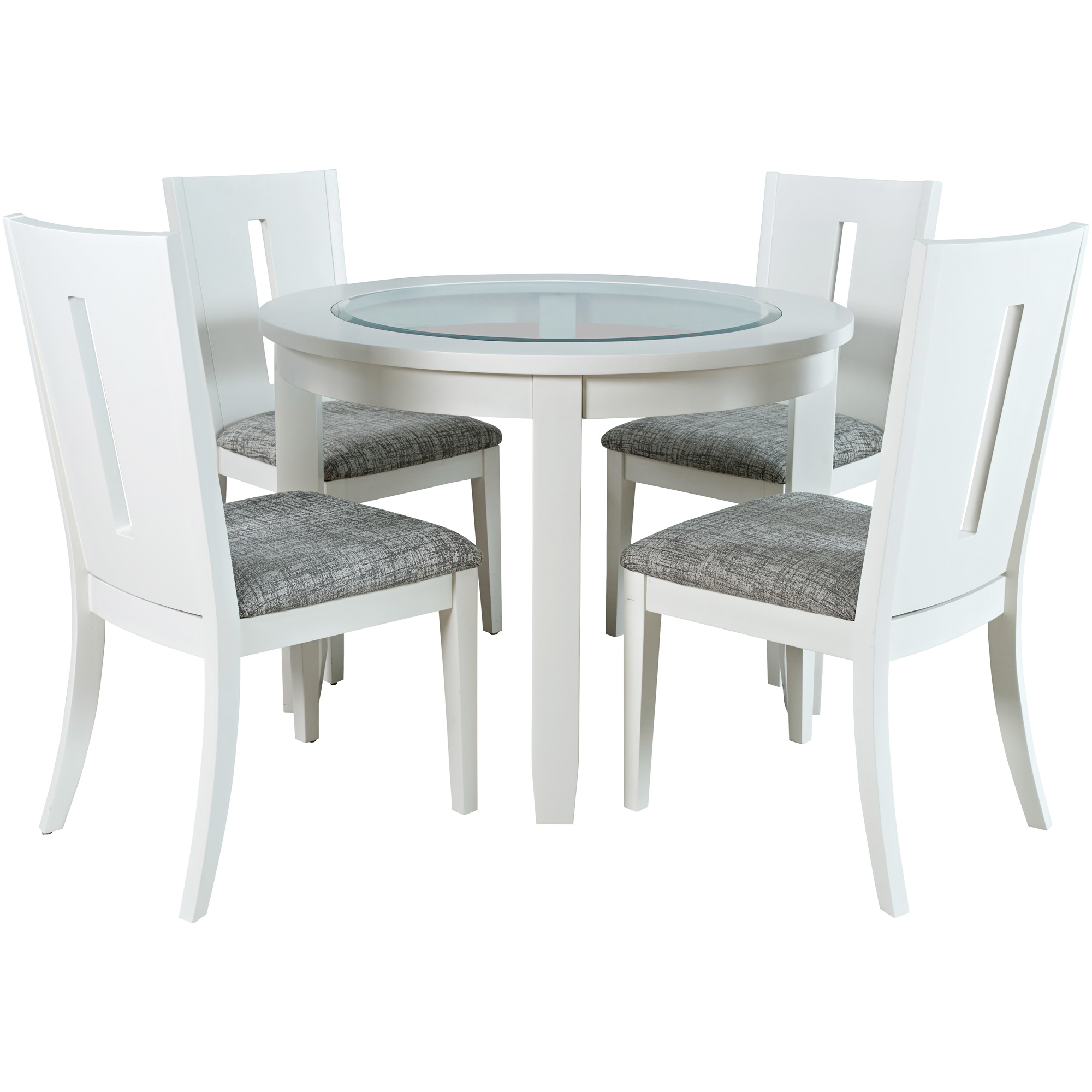 Jofran, Inc. | Urban Icon White Round 5 Piece Dining Set