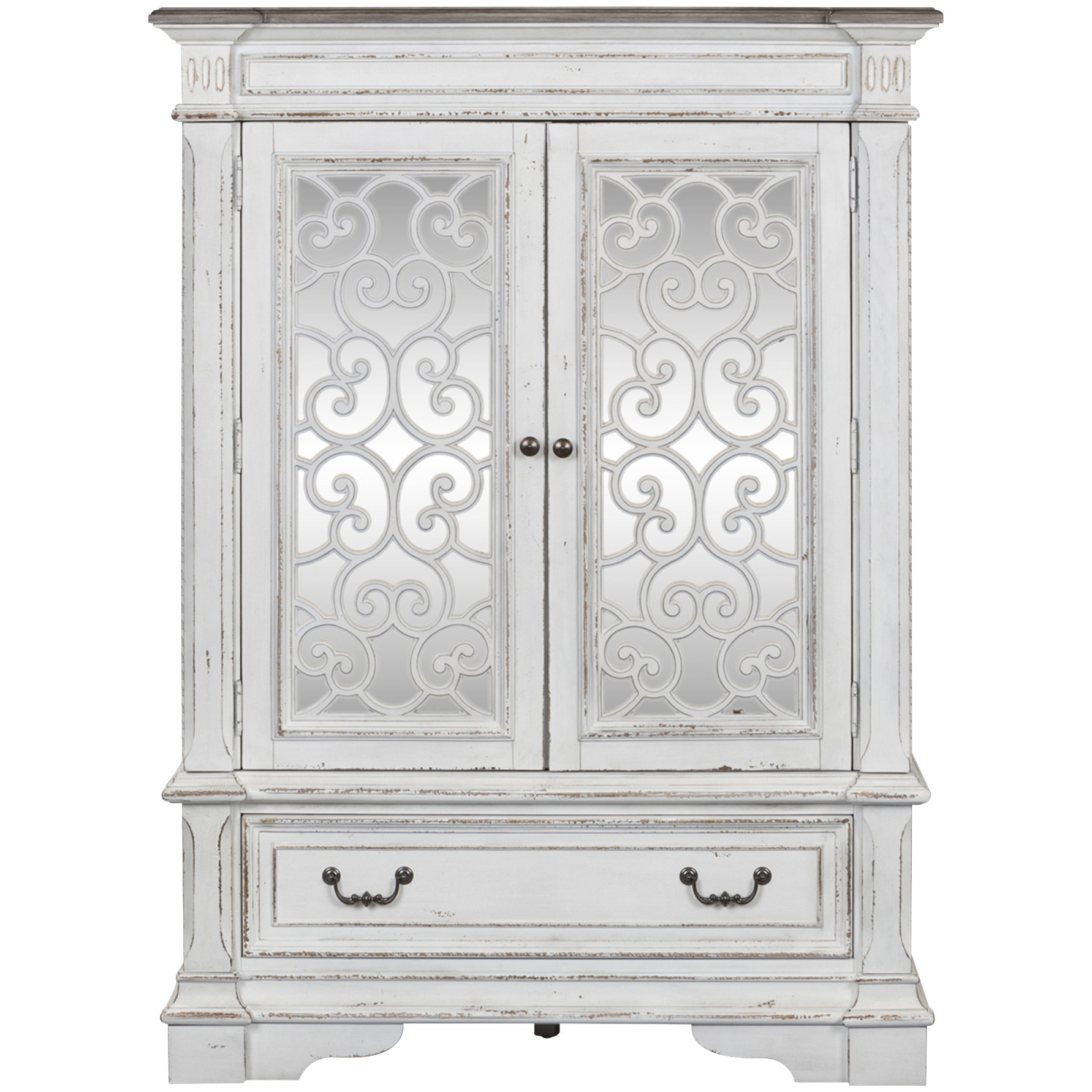 Liberty Furniture | Abbey Park White Mirrored Door Chest
