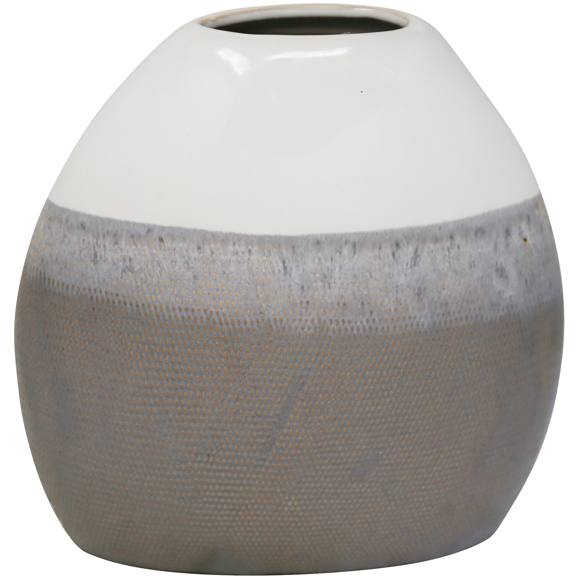 Sagebrook | Elevated Chic Gray Small Ceramic Vase