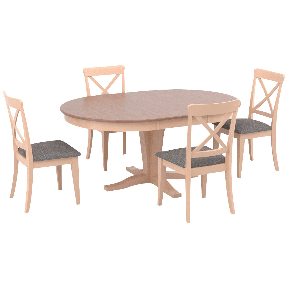 Canadel Furniture | Kirkland Linen County White 5 Piece X Back Dining Set