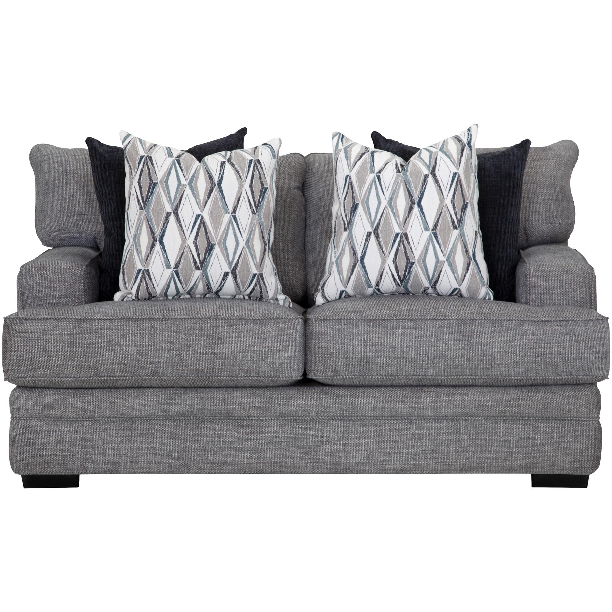 Franklin | Crowes Denim Loveseat Sofa