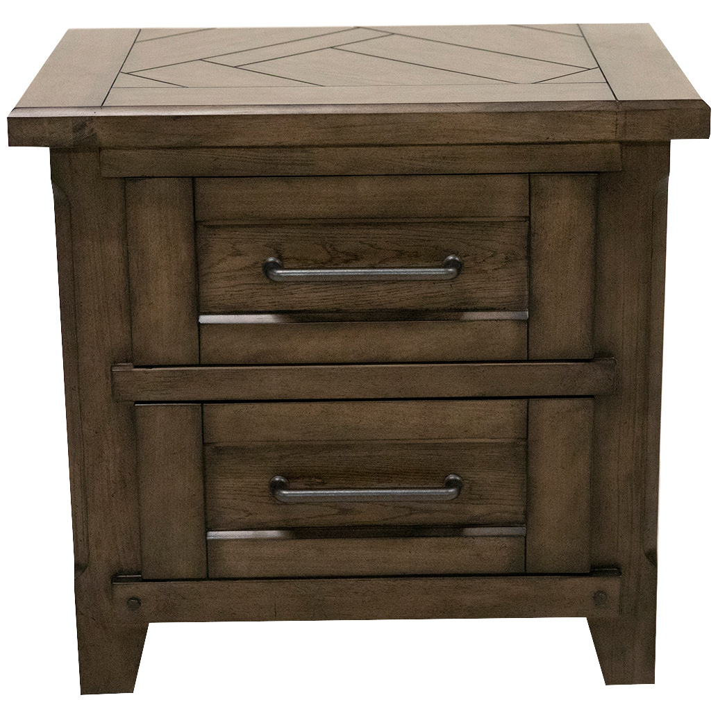 Davis Direct | Patches Gray Brown Nightstand