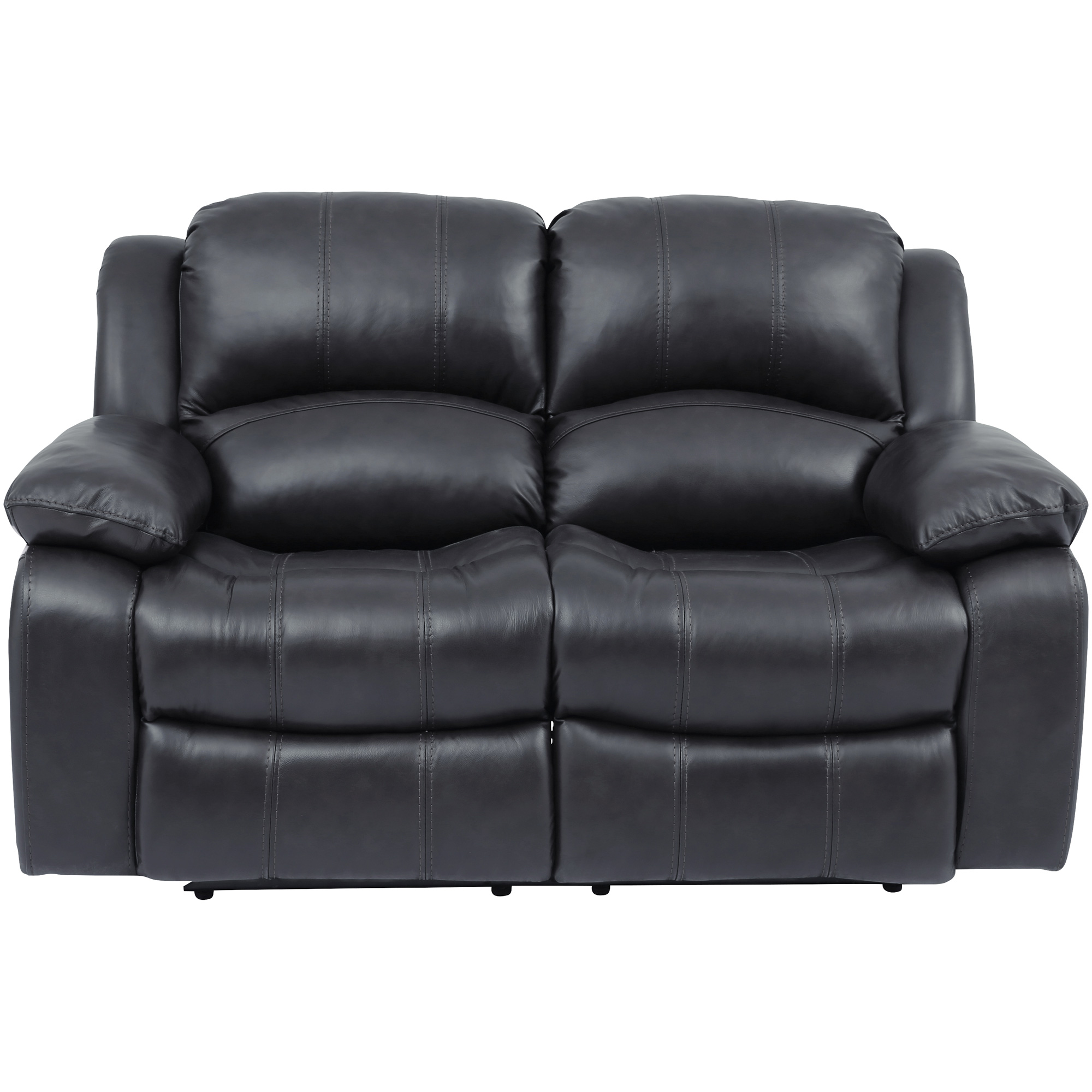 Wah Cheers | Ender Gray Leather Power+ Reclining Loveseat Sofa