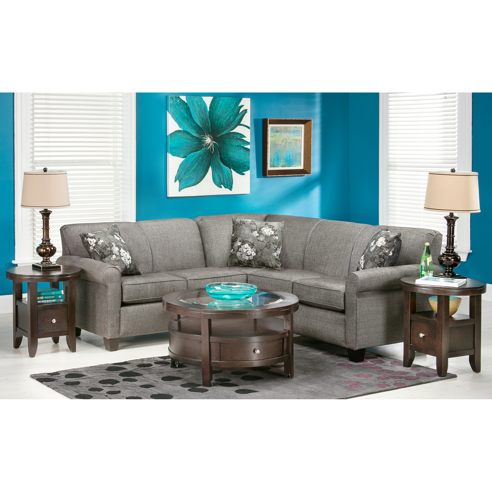 Dimensions By England   York Granite 2 Piece Sectional Sofa