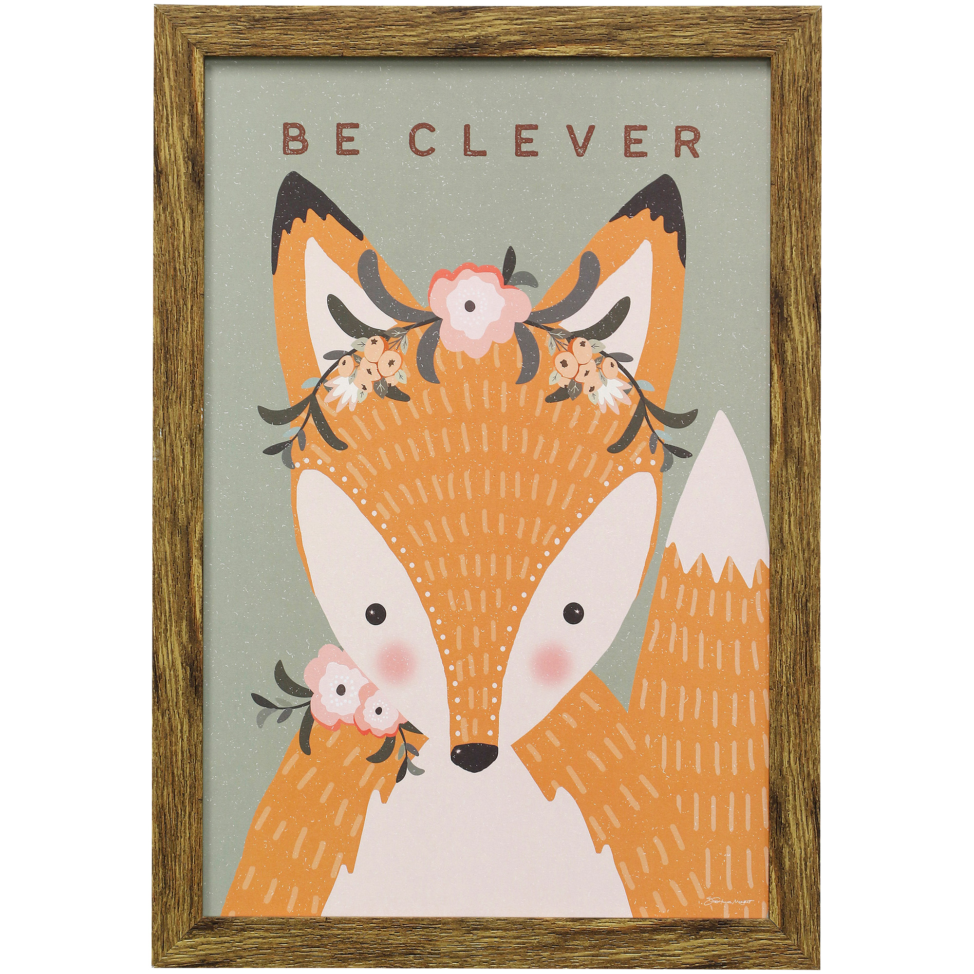 Stylecraft Home Collection | Clever Fox Framed Art