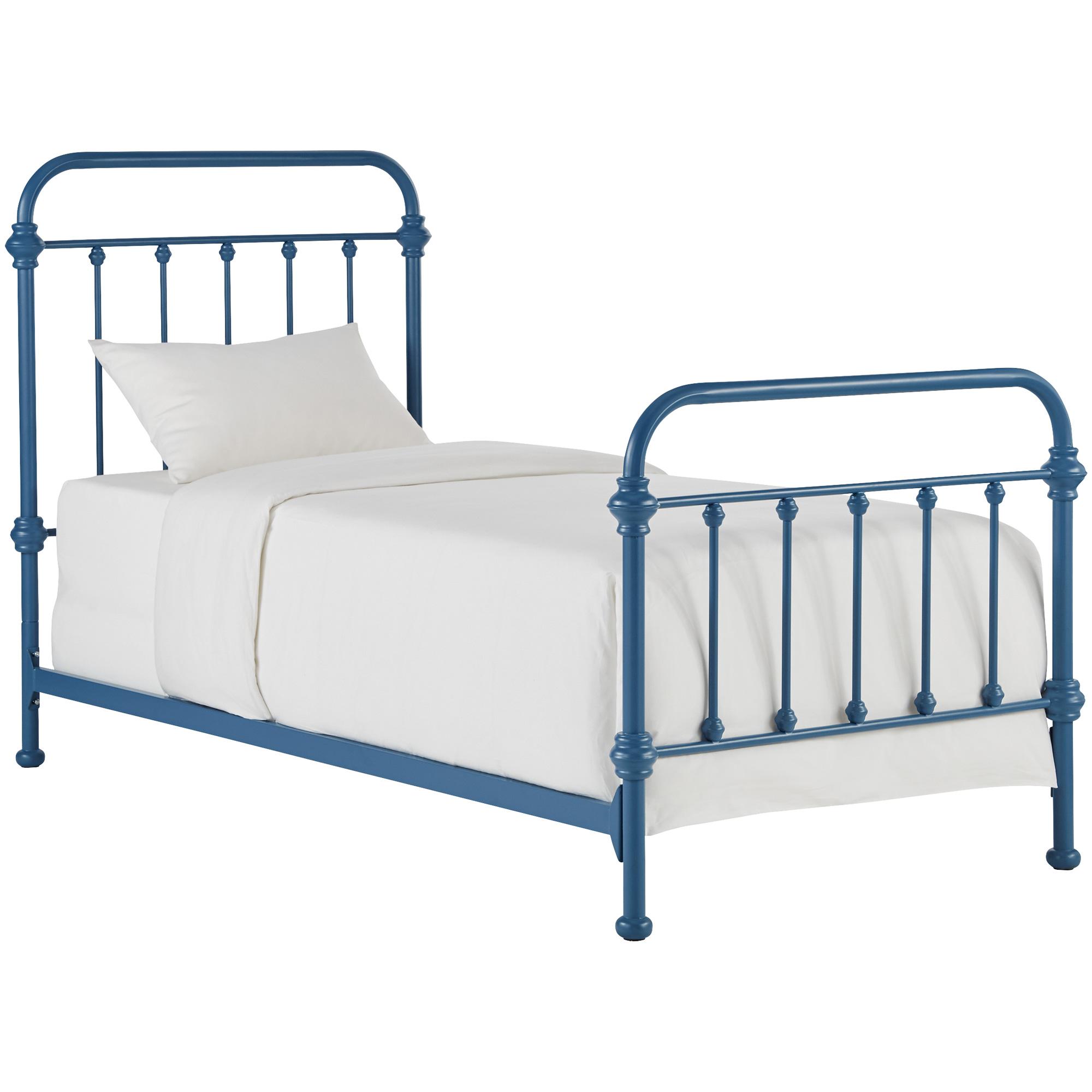 Home Elegance | Laguna Blue Twin Metal Bed