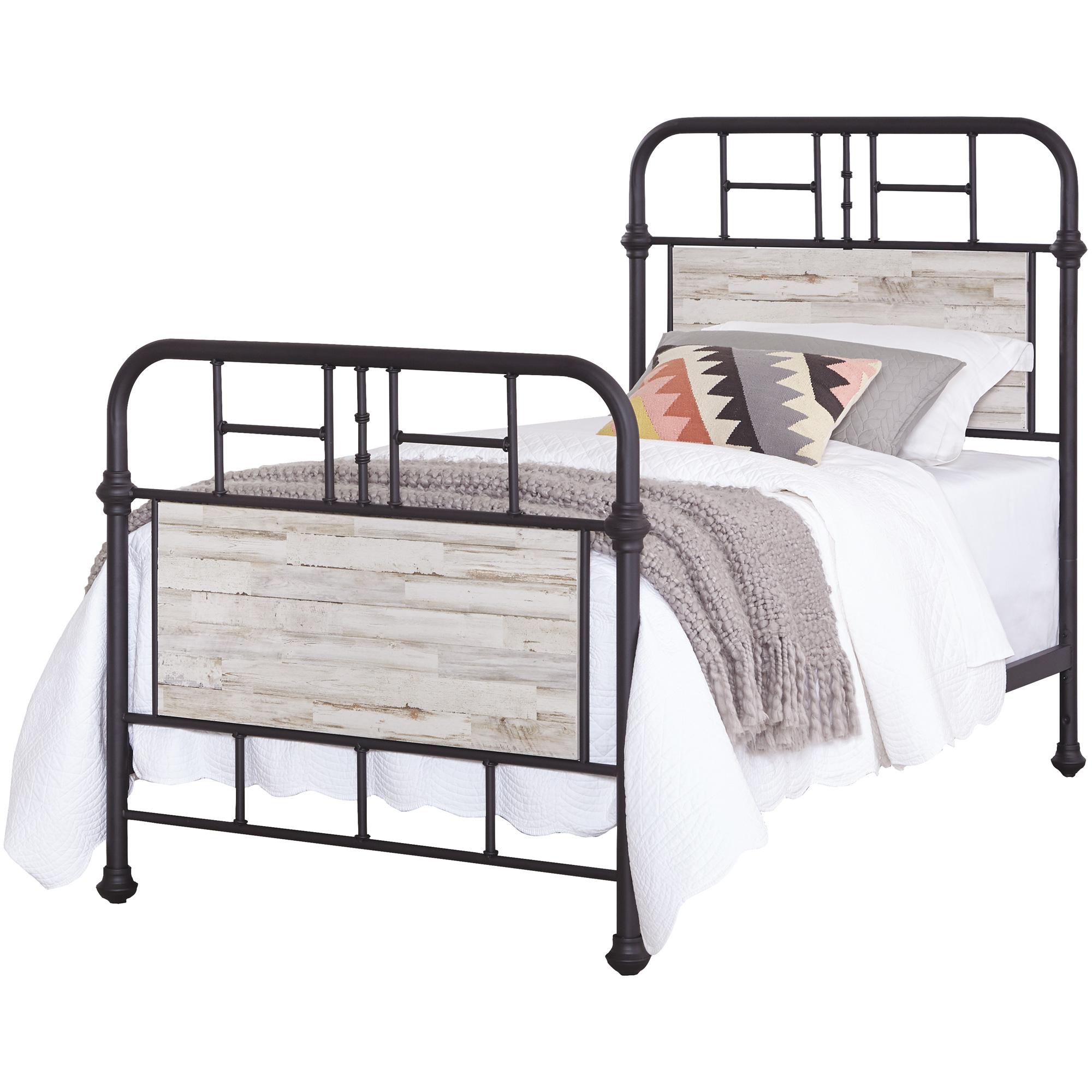 Kith Furniture | Gambrel Whitewash Twin Metal Bed