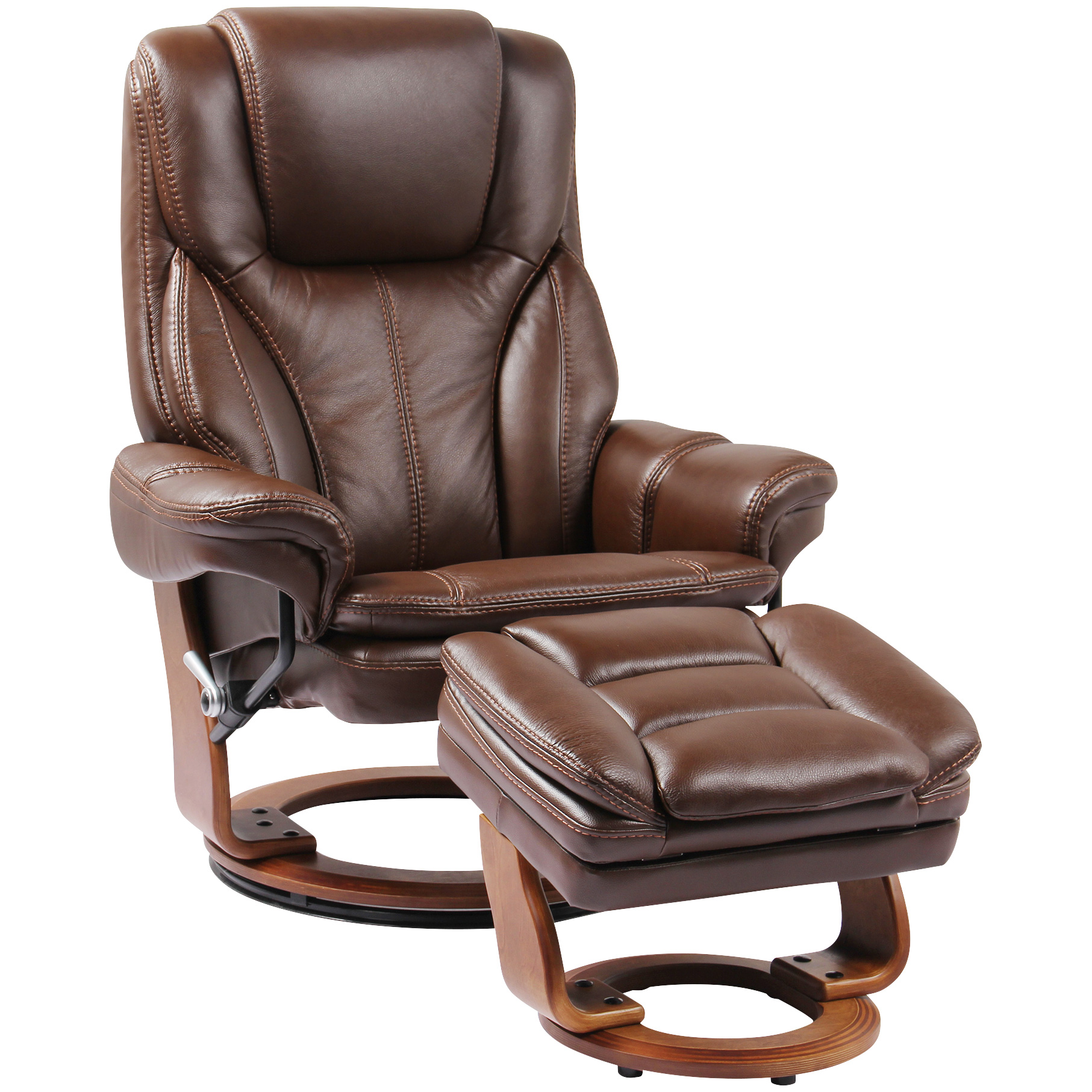 Benchmaster | Hana Brown Recliner Chair with Ottoman