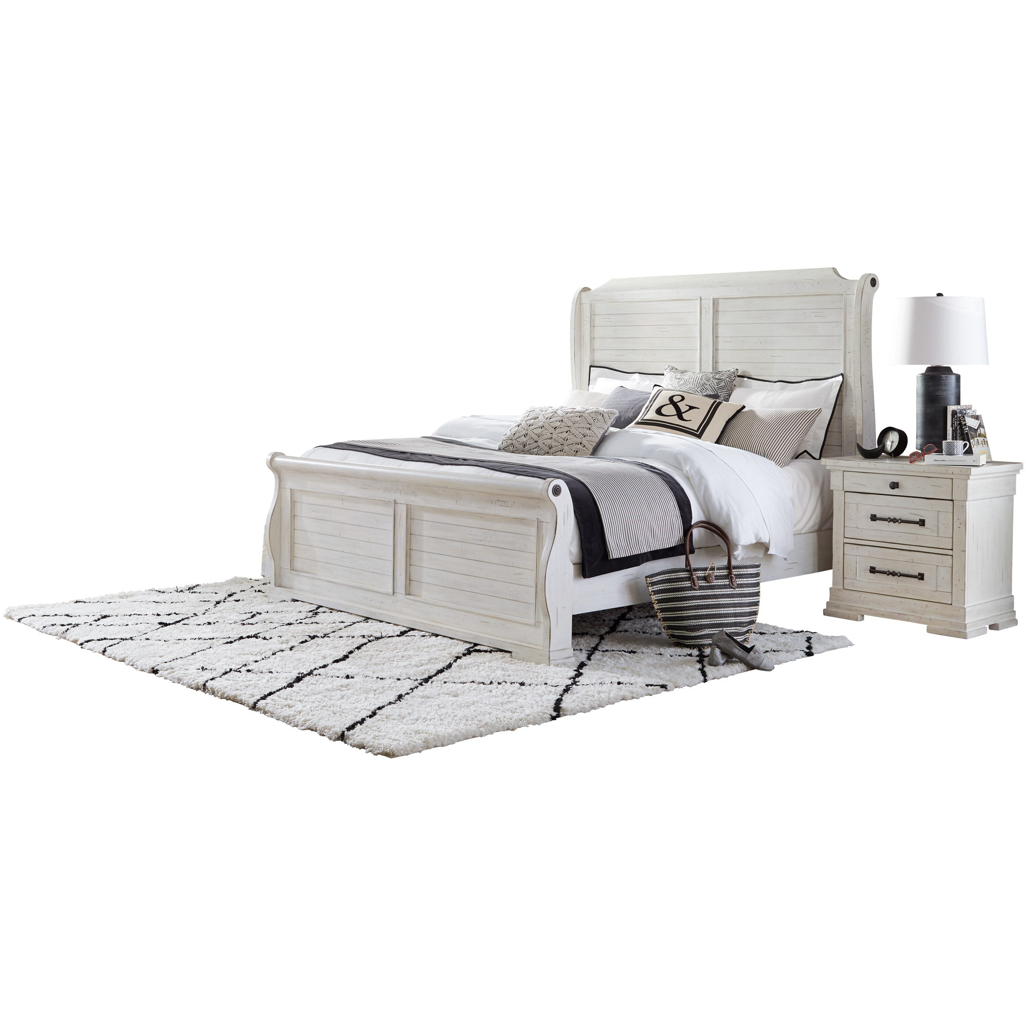 Lifestyle Enterprise | Bay Ridge White King Bed