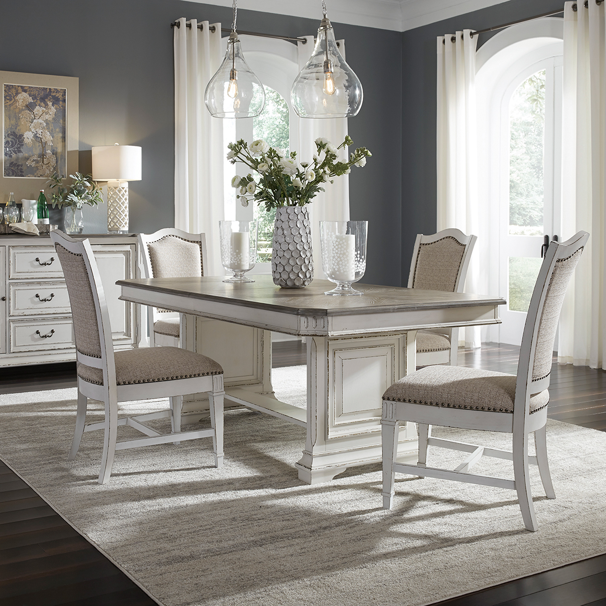 Liberty Furniture | Abbey Park White 5 Piece Dining Set