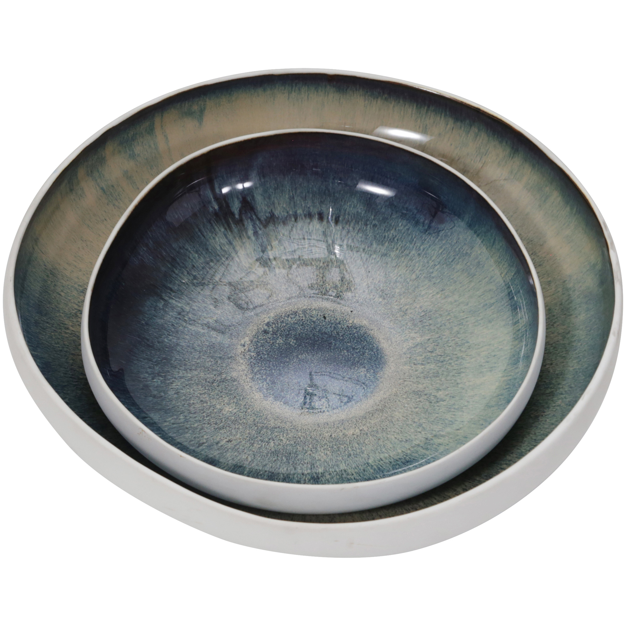 Sagebrook | Elevated Chic Green Ceramic Bowls