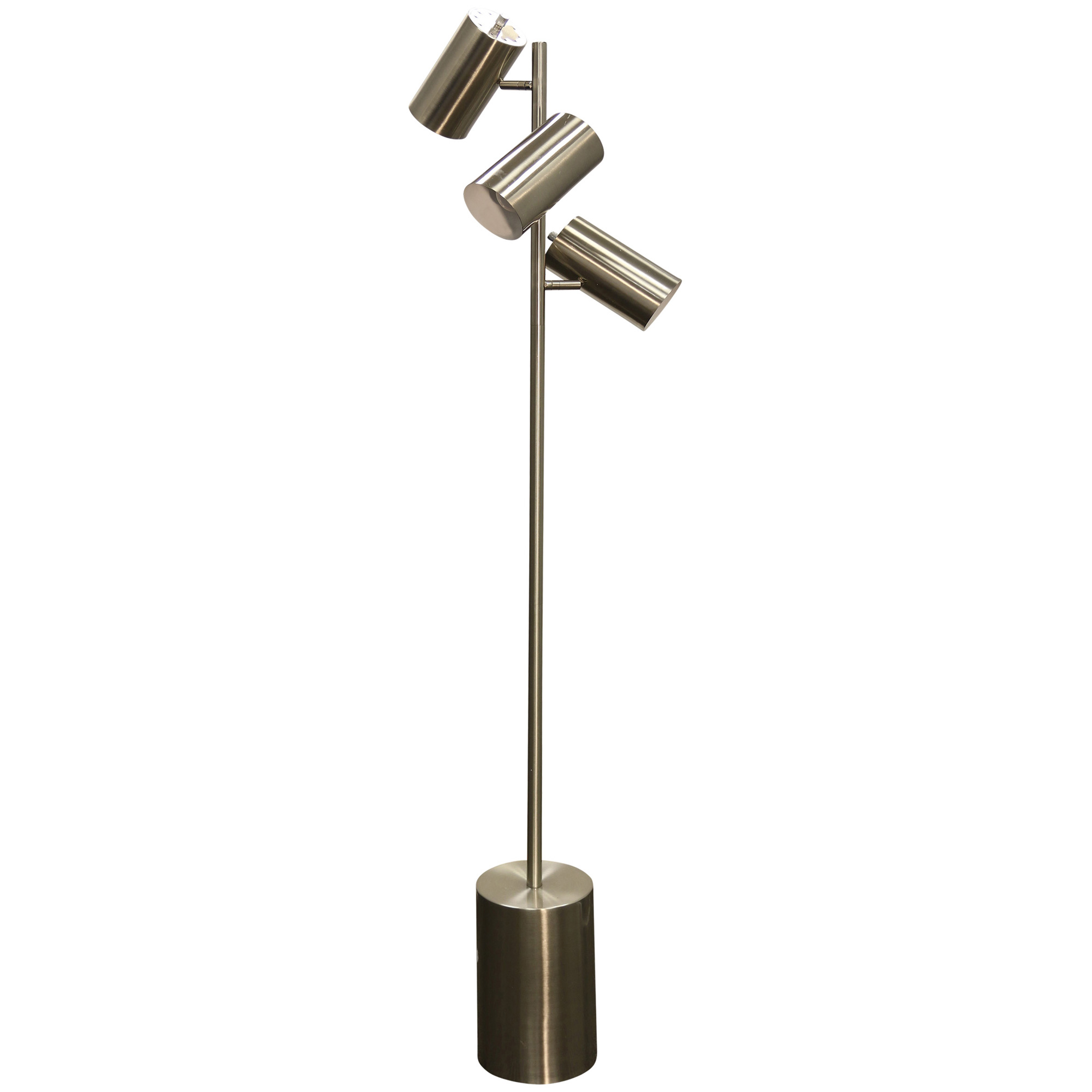 Stylecraft Home Collection | Bainsville Silver Adjustable Floor Lamp