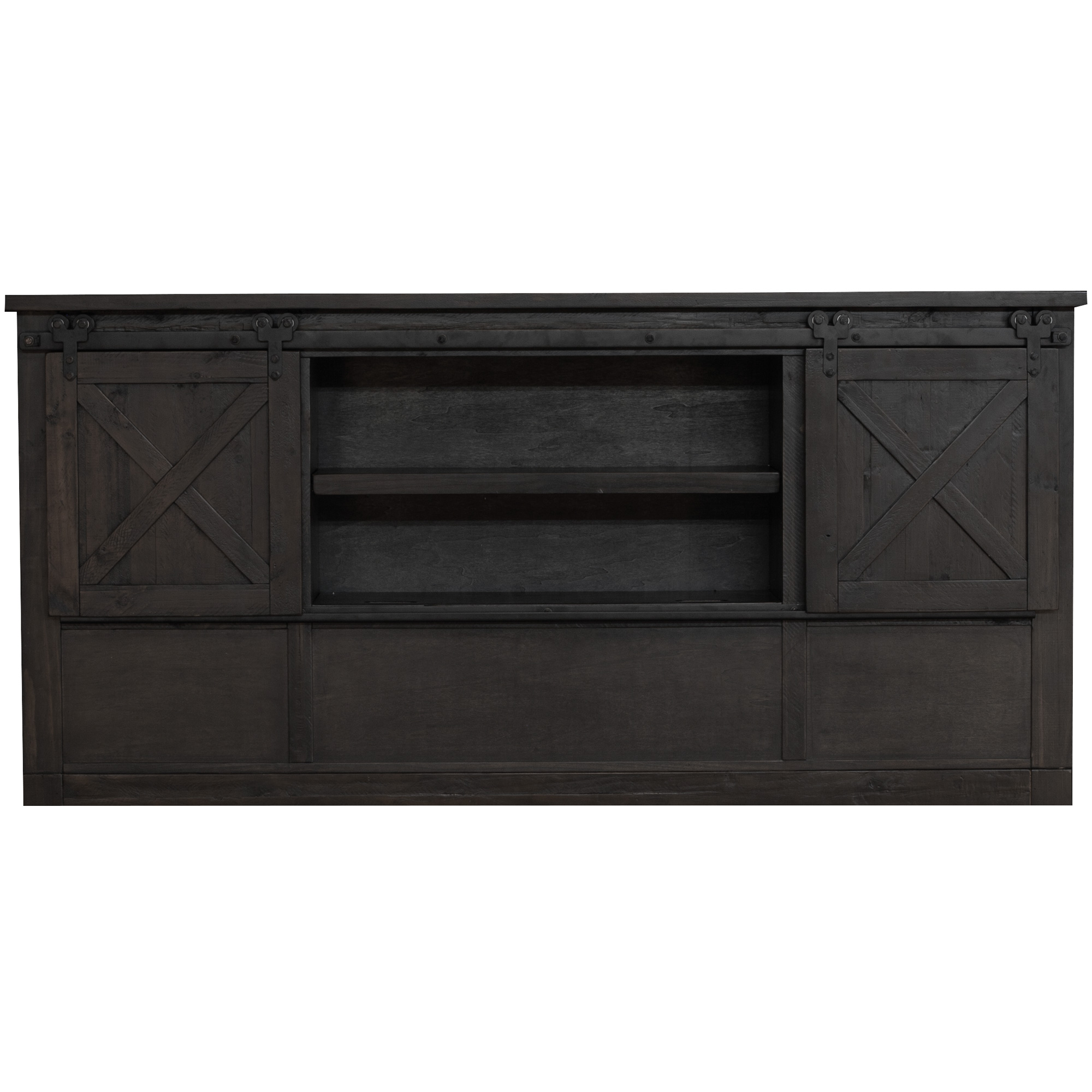 America | Sun Valley Charcoal Queen Bookcase Headboard