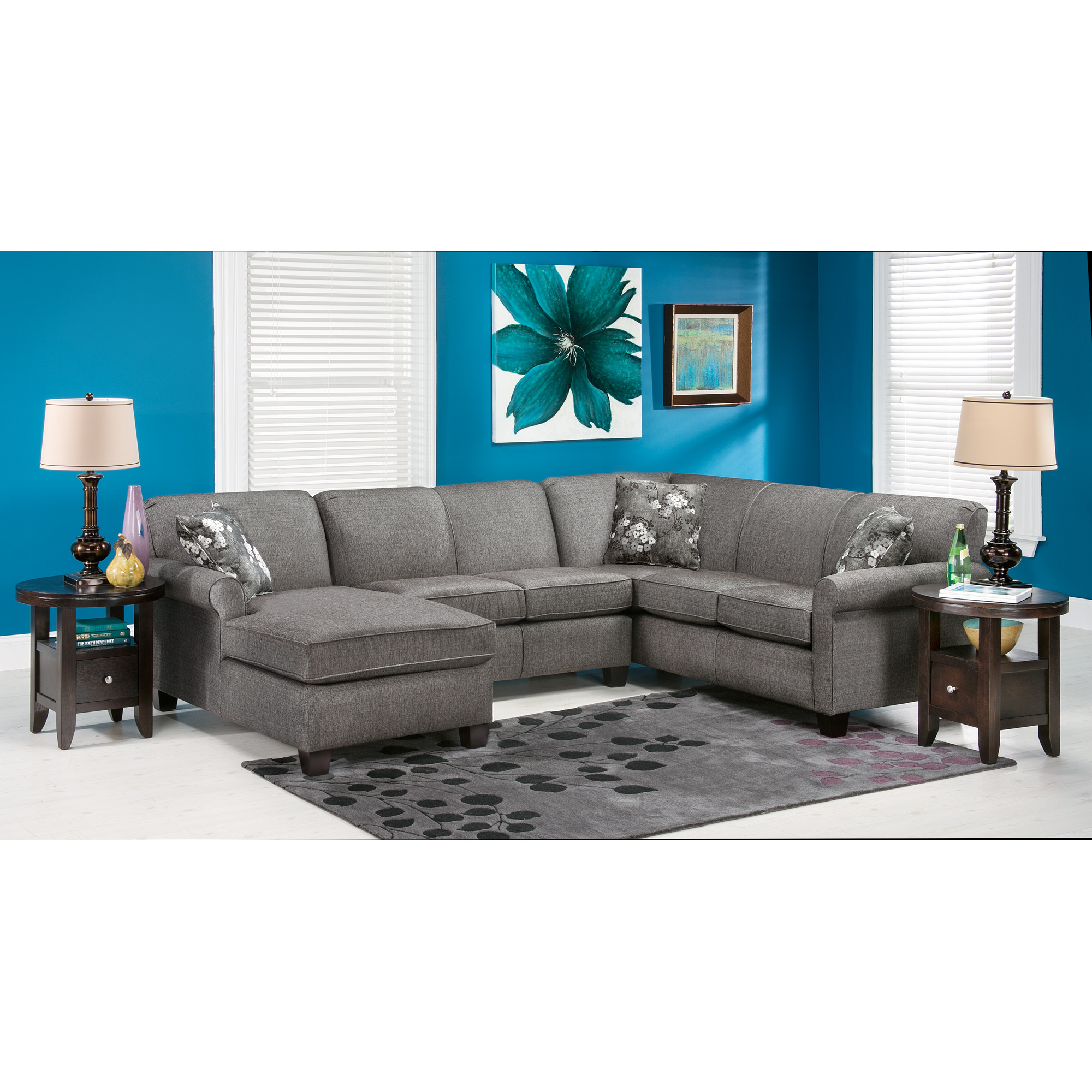 Dimensions By England | York Granite 3 Piece Sectional Sofa