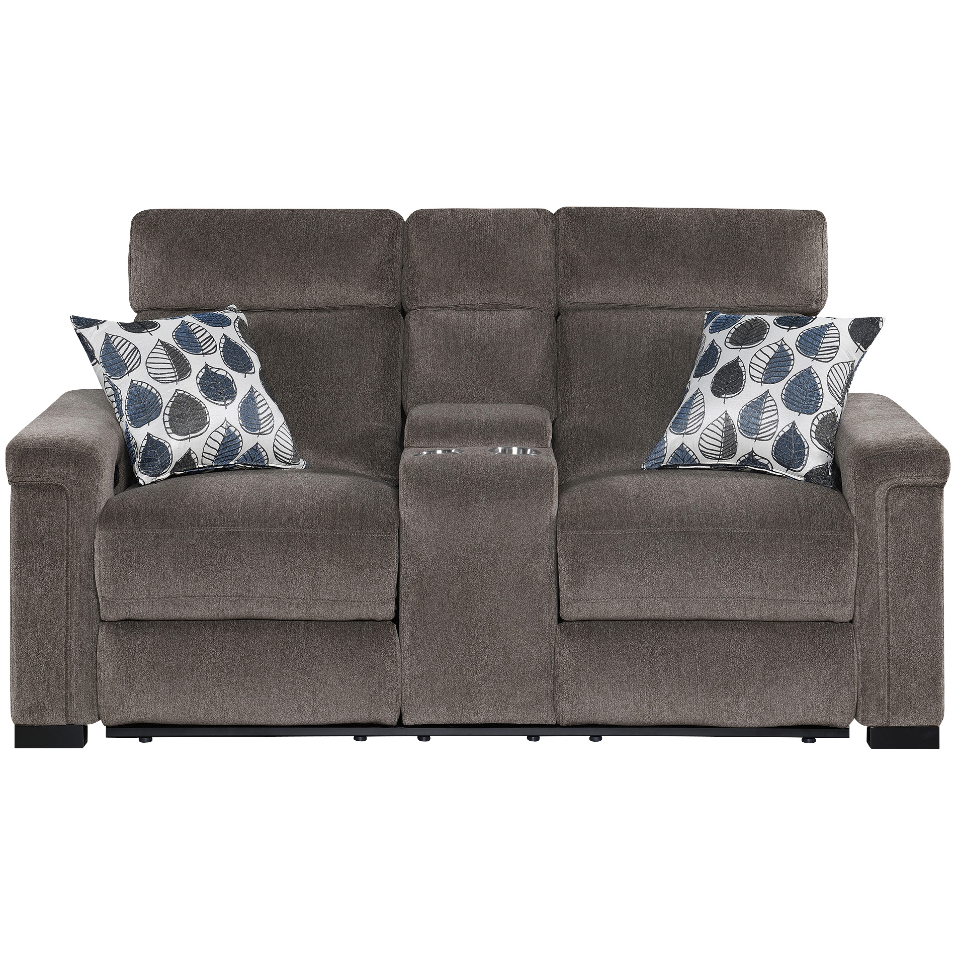 Motion 1Nnovations   Lavenue Brown Power Plus Reclining Console Loveseat Sofa